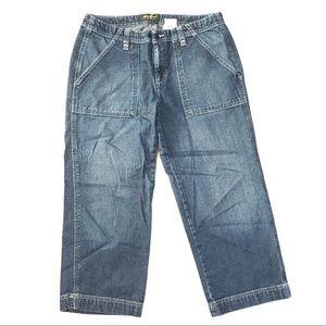 Eddie Bauer cropped cotton jeans capri Sz 6